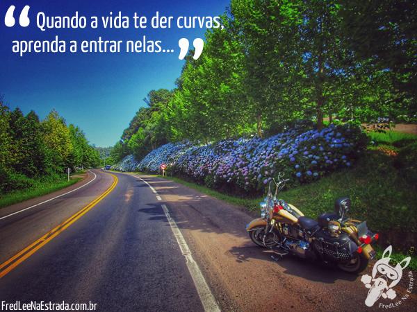 Quando a vida te der curvas, aprenda a entrar nelas...   FredLee Na Estrada