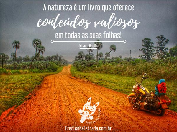 A natureza é um livro que oferece conteúdos valiosos em todas as suas folhas! (Johann Goethe) | FredLee Na Estrada