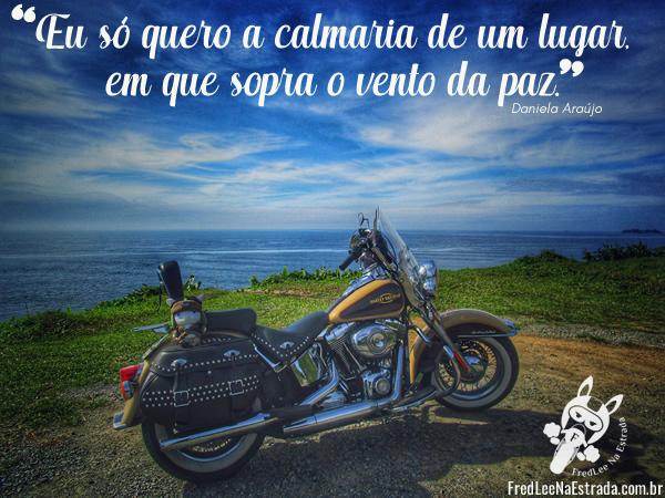 Eu só quero a calmaria de um lugar, em que sopra o vento da paz. (Daniela Araújo) | FredLee Na Estrada