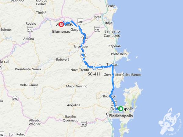 Trajeto de Florianópolis - SC a Blumenau - SC | FredLee Na Estrada