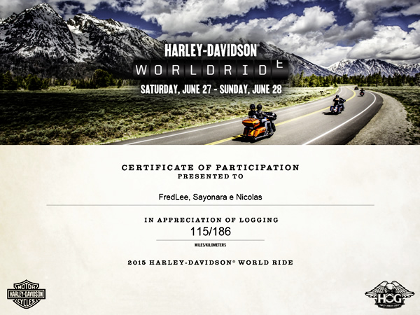 Harley-Davidson World Ride 2015