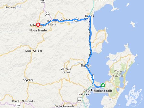 Trajeto de Florianópolis - SC a Nova Trento - SC | FredLee Na Estrada