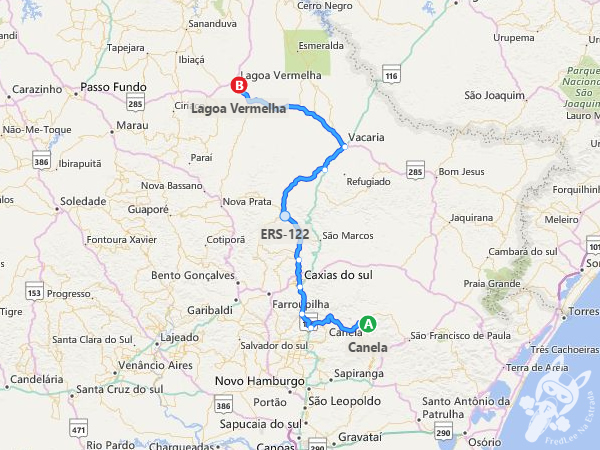 Trajeto entre Canela - RS e Lagoa Vermelha - RS   FredLee Na Estrada