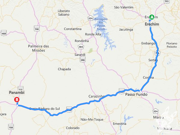 Trajeto de Erechim - RS a Panambi - RS | FredLee Na Estrada
