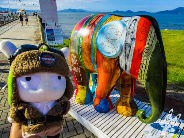 Psycho Elephant Antropográfico Tropical, por Fernando Guimarais - Elephant Parade - Florianópolis - SC