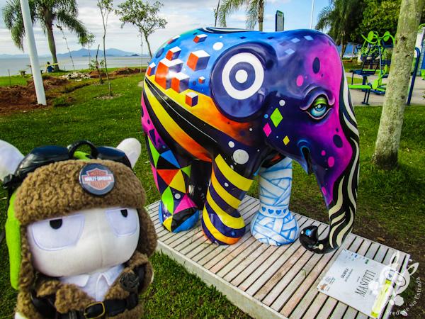 Salwala, por Bruno Álvares - Elephant Parade - Florianópolis - SC