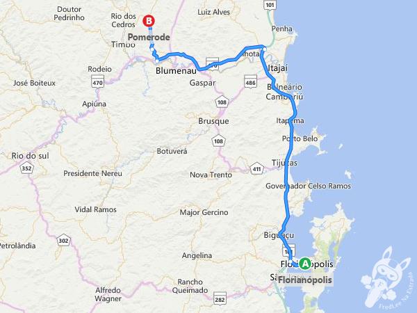 Trajeto de Florianópolis - SC a Pomerode - SC   FredLee na Estrada