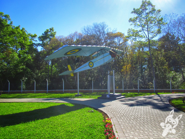 Réplica do avião que sofreu o primeiro acidente aéreo em missão militar na América