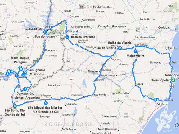 Roteiro completo da Expedição 2016: Missões - Cataratas   FredLee Na Estrada