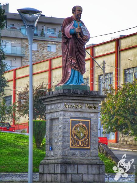 Igreja Matriz Nossa Senhora de Lourdes e o Campanário   Flores da Cunha - RS
