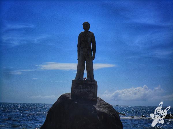 Monumento ao Pescador - Praia do Grant - Barra Velha - SC | FredLee Na Estrada