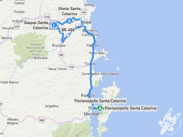 Trajeto de Florianópolis - SC a Ilhota - SC   FredLee Na Estrada