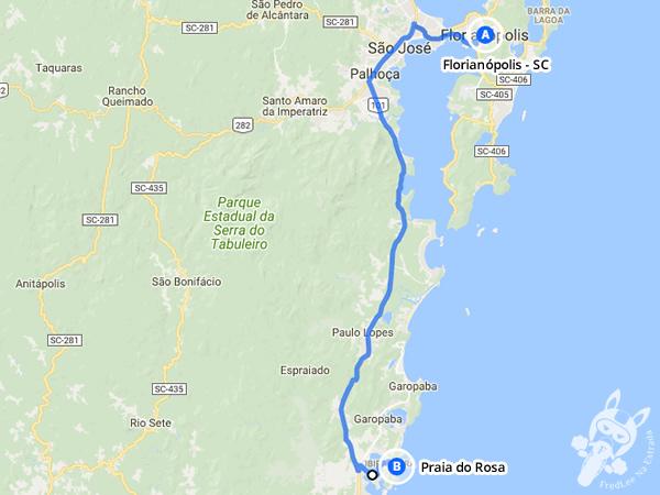 Trajeto de Florianópolis - SC a Praia do Rosa - Imbituba - SC | FredLee Na Estrada