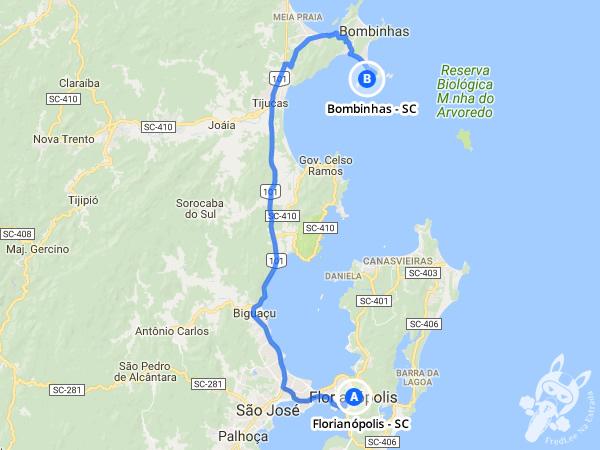 Trajeto de Florianópolis - SC a Bombinhas - SC | FredLee Na Estrada