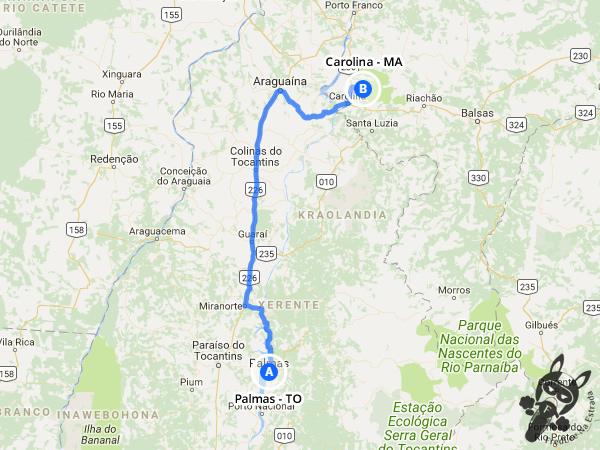 Trajeto entre Palmas - TO e Carolina - MA | FredLee Na Estrada
