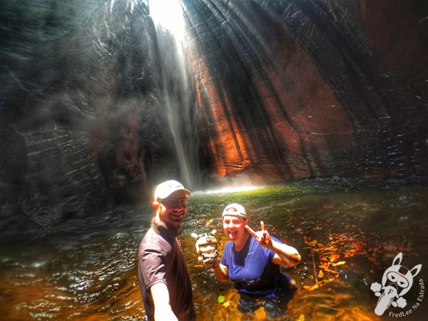 Cachoeira do Capelão | Santuário Ecológico Pedra Caída - Carolina - MA | FredLee Na Estrada