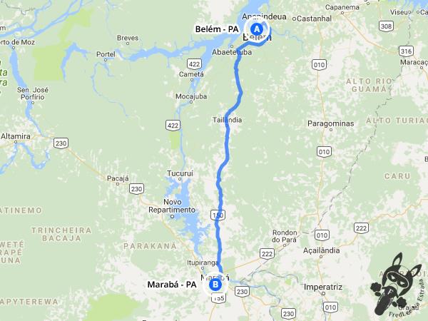Trajeto de Belém - PA a Marabá - PA | FredLee Na Estrada