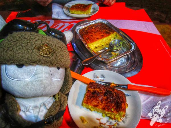 Prato típico paraguaio Chipa Guasu | San Bernardino - Cordillera - Paraguai | FredLee Na Estrada