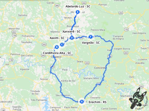 Trajeto entre Erechim - RS e Abelardo Luz - SC passando por Cordilheira Alta, Xaxim, Xanxerê e Vargeão | FredLee Na Estrada