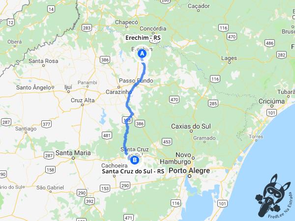 Trajeto de Erechim - RS a Santa Cru do Sul - RS | FredLee Na Estrada