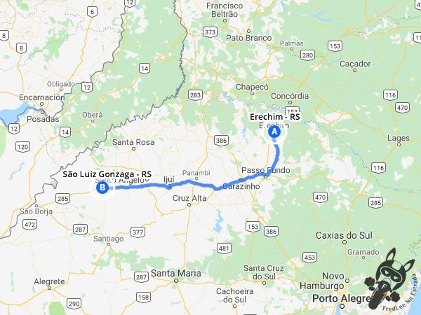 Trajeto de Erechim - RS a São Luiz Gonzaga - RS | FredLee Na Estrada