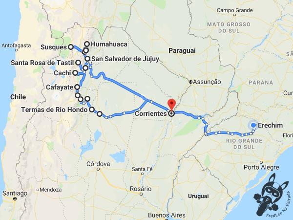 Trajeto percorrido durante a Expedição 2019: Salta - Jujuy - Tucumán | FredLee Na Estrada