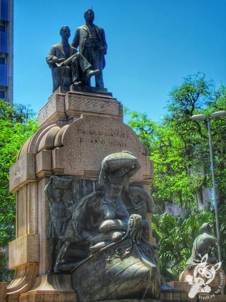 Monumento Candido Gaffree Eduardo Guinle   Praça Barão do Rio Branco - Centro Histórico   Santos - São Paulo - Brasil   FredLee Na Estrada