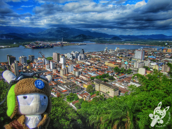 Monte Serrat - Centro Histórico | Santos - São Paulo - Brasil | FredLee Na Estrada