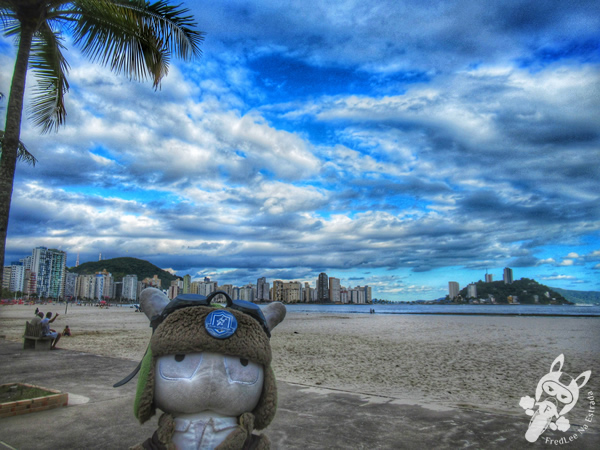 Praia do Gonzaguinha | São Vicente - São Paulo - Brasil | FredLee Na Estrada
