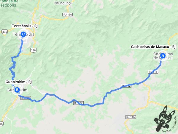 Trajeto entre Cachoeiras de Macacu - Rio de Janeiro - Brasil e Teresópolis - Rio de Janeiro - Brasil | FredLee Na Estrada