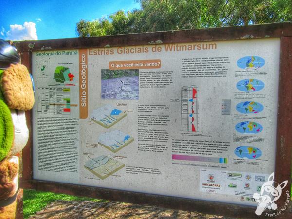 Estrias Glaciais de Witmarsum | Colônia Witmarsum - Palmeira - Paraná - Brasil | FredLee Na Estrada