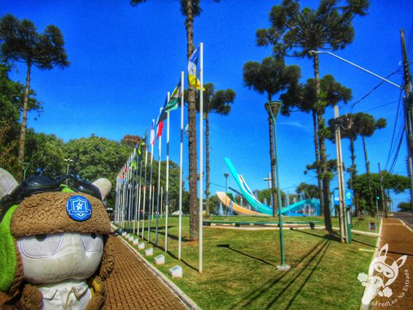 Praça do Migrante Florêncio Galafassi   Cascavel - Paraná - Brasil   FredLee Na Estrada